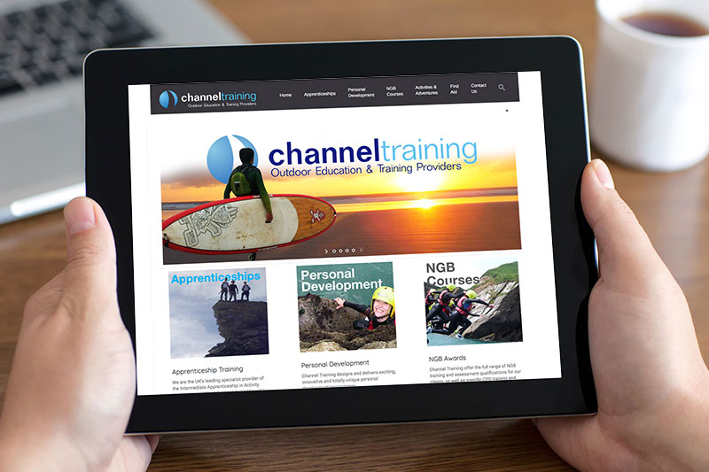 Responsive Website Design for mine head's Channel Training