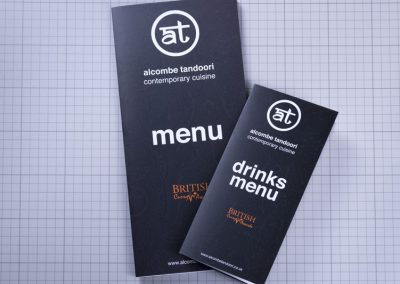 Folded Laminated Menu