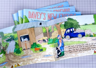 Davey's New Friends Self Publish Book
