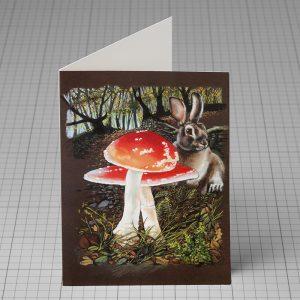 Terry Gable rabbit greetings card