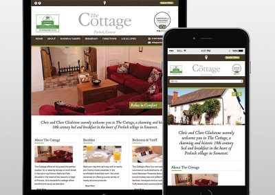 The Cottage B&B website