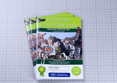 1 Dunster Country Fair- Programme Booklet