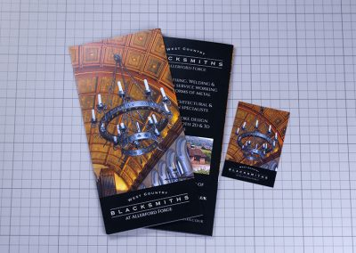 Allerford Forge Folded Leaflet Brochure and Business Card