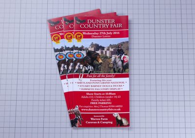 Dunster Country Fair Event Leaflet