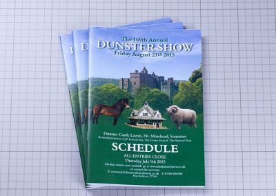 Dunster Show Schedule