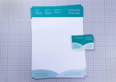 Exmoor Eyecare Letterhead and Business Cards