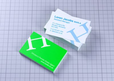Horler Estate Agent Business Cards