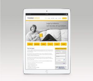 Responsive website design for Thorne Segar Minehead